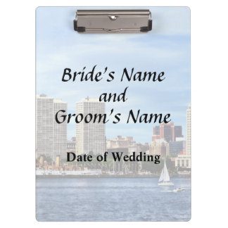 Philadelphia Pa Skyline Wedding Supplies Clipboard