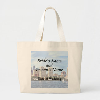 Philadelphia Pa Skyline Wedding Supplies Large Tote Bag