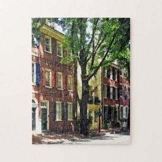 Philadelphia PA - Society Hill Street Jigsaw Puzzle