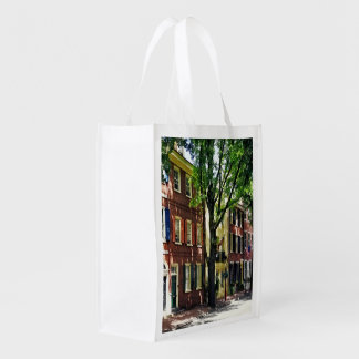 Philadelphia PA - Society Hill Street Reusable Grocery Bag