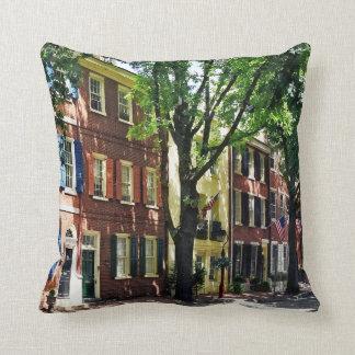 Philadelphia PA - Society Hill Street Throw Pillow