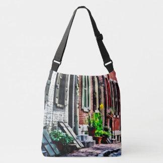 Philadelphia Pa Street With Flower Pots Crossbody Bag