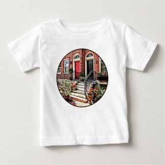 Philadelphia PA - Townhouse With Red Geraniums Baby T-Shirt