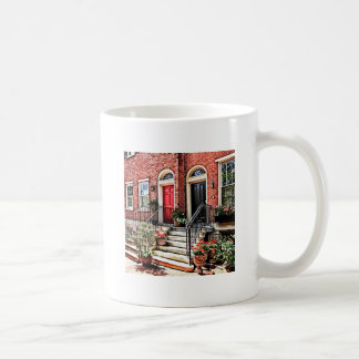 Philadelphia PA - Townhouse With Red Geraniums Coffee Mug