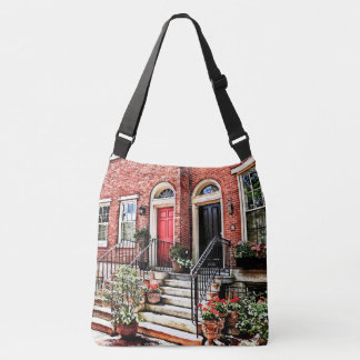 Philadelphia PA - Townhouse With Red Geraniums Crossbody Bag