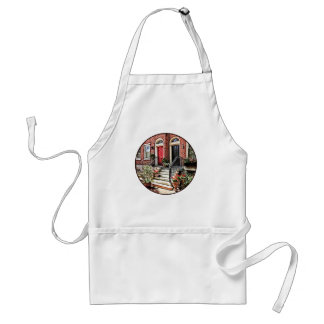 Philadelphia PA - Townhouse With Red Geraniums Standard Apron