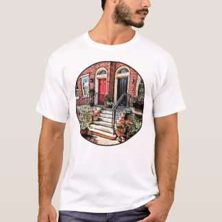 Philadelphia PA - Townhouse With Red Geraniums T-Shirt