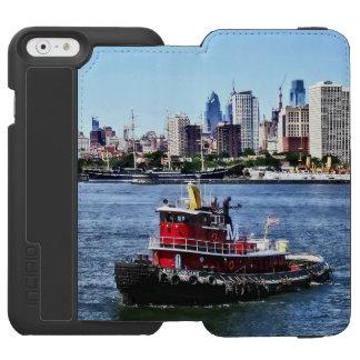 Philadelphia PA - Tugboat by Philadelphia Skyline Incipio Watson™ iPhone 6 Wallet Case