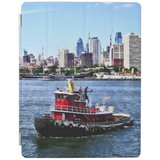 Philadelphia PA - Tugboat by Philadelphia Skyline iPad Cover