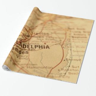 Philadelphia, PA Vintage Map Gift Wrap