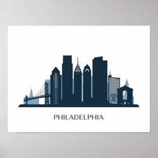 Philadelphia, Pennsylvania | Monochromatic City Poster