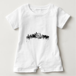 Philadelphia Pennsylvania Skyline Baby Romper