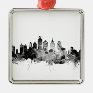 Philadelphia Pennsylvania Skyline Metal Ornament