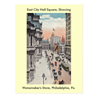 Philadelphia Pennsylvania View Including Wanamaker Postcard