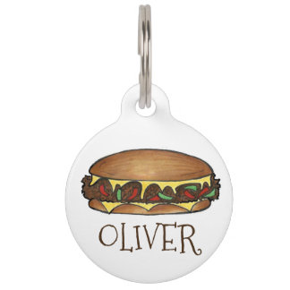 Philadelphia Philly Cheese Steak Sandwich Dog Tag