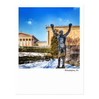 Philadelphia Post Card-Rocky Statue Postcard