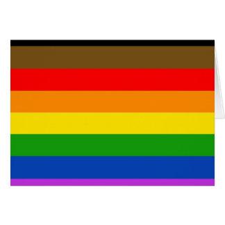 Philadelphia pride flag card