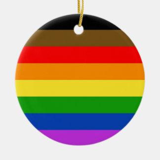 Philadelphia pride flag ceramic ornament