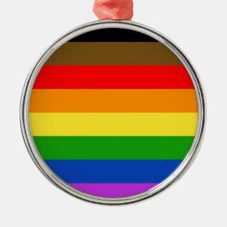 Philadelphia pride flag metal ornament