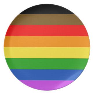 Philadelphia pride flag plate
