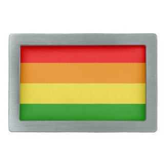 Philadelphia pride flag rectangular belt buckles