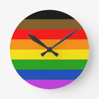 Philadelphia pride flag round clock