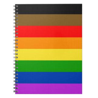 Philadelphia pride flag spiral notebook