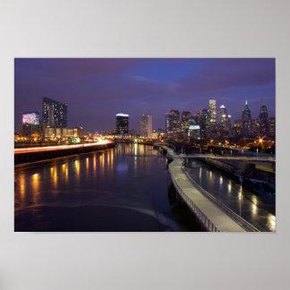Philadelphia Skyline at Dusk Poster
