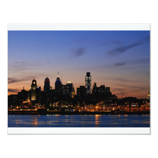 Philadelphia Skyline at Twilight Card