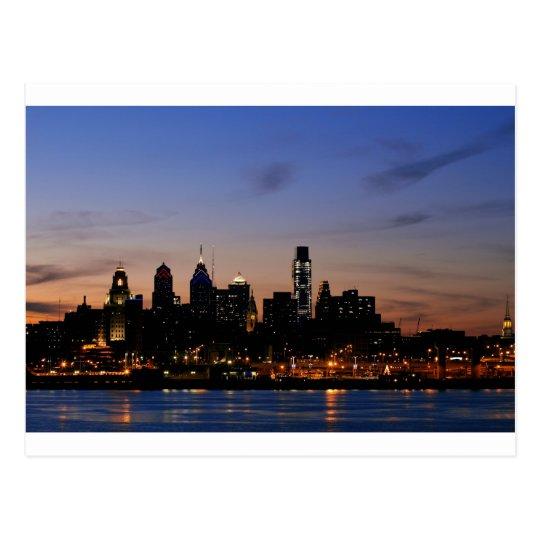 Philadelphia Skyline at Twilight Postcard