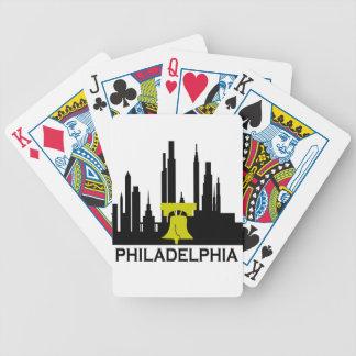 Philadelphia Skyline Bicycle Playing Cards