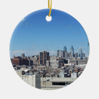 Philadelphia Skyline Ceramic Ornament