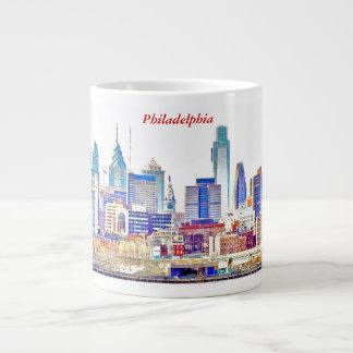 Philadelphia Skyline Color Sketch Jumbo Mug