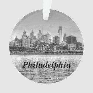 Philadelphia skyline in black and white