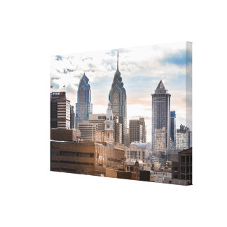 Philadelphia Skyline in Daytime Canvas Print
