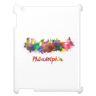 Philadelphia skyline in watercolor iPad cases