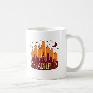 Philadelphia Skyline Mega Hot Coffee Mug