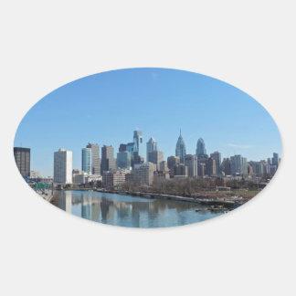 Philadelphia Skyline Oval Sticker