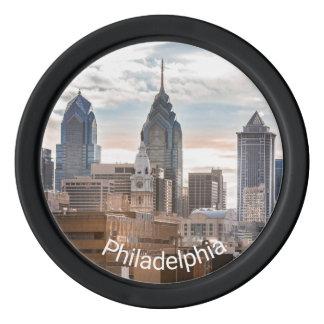 Philadelphia Skyline Poker Chips