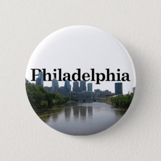 Philadelphia Skyline - with Phil. in the backgrnd 2 Inch Round Button