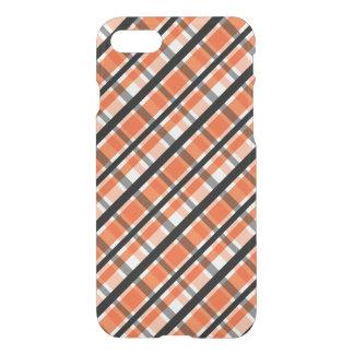 Philadelphia Sports Fan Orange Black White Plaid iPhone 8/7 Case