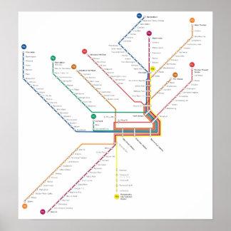 Philadelphia subway Poster