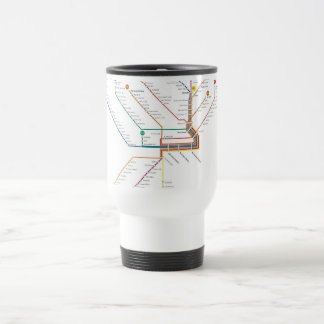 Philadelphia subway travel mug