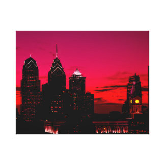 Philadelphia Sundown Skyline Canvas Print