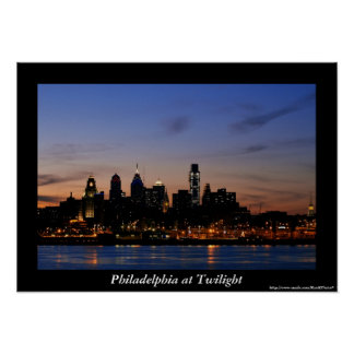 Philadelphia Twilight Poster