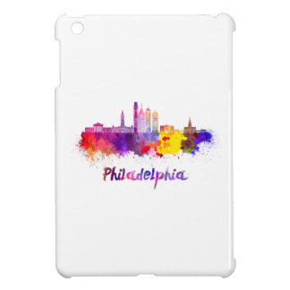 Philadelphia V2 skyline in watercolor iPad Mini Case