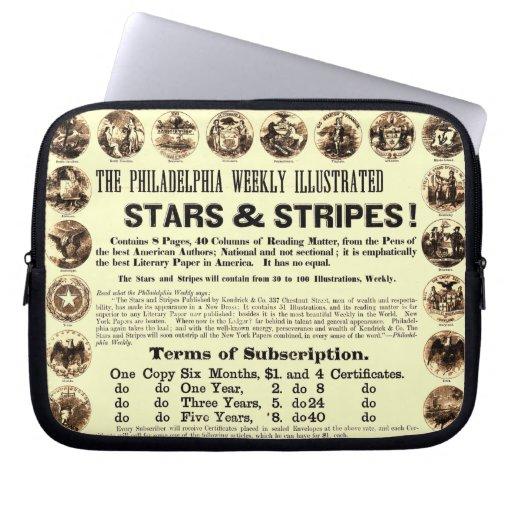Philadelphia Weekly 1918 Stars & Stripes Newspaper Computer Sleeve