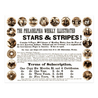 Philadelphia Weekly 1918 Stars & Stripes Newspaper Postcard