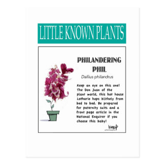 Philandering hil - Little Known Plant Series Postcard