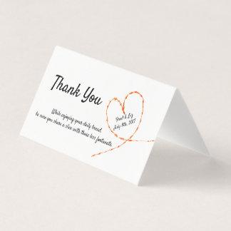 Philanthropic Wedding Favors Donation Cards